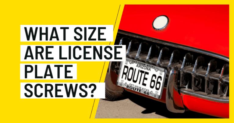 License Plate Screw Size
