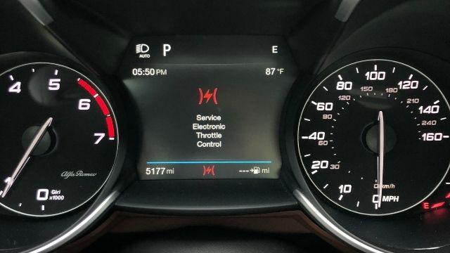 Electronic Throttle Control Warning Light